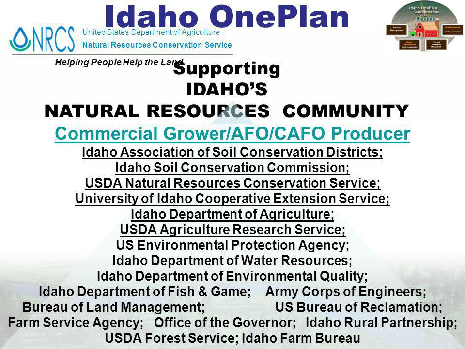 United States Department of Agriculture Natural Resources Conservation Service Helping People Help the Land.