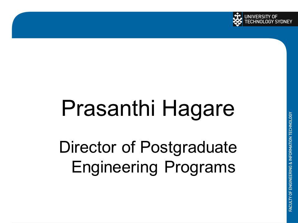 Prasanthi Hagare Director of Postgraduate Engineering Programs