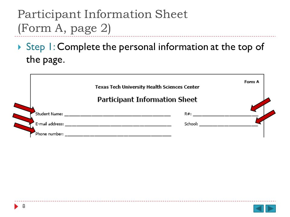 Student Health / Emergency Treatment Authorization (Form H) cont. Provide your R#. 109