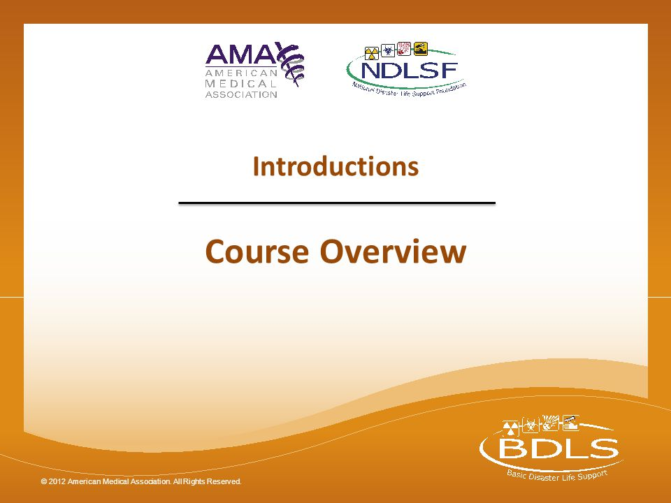 Introductions Course Overview