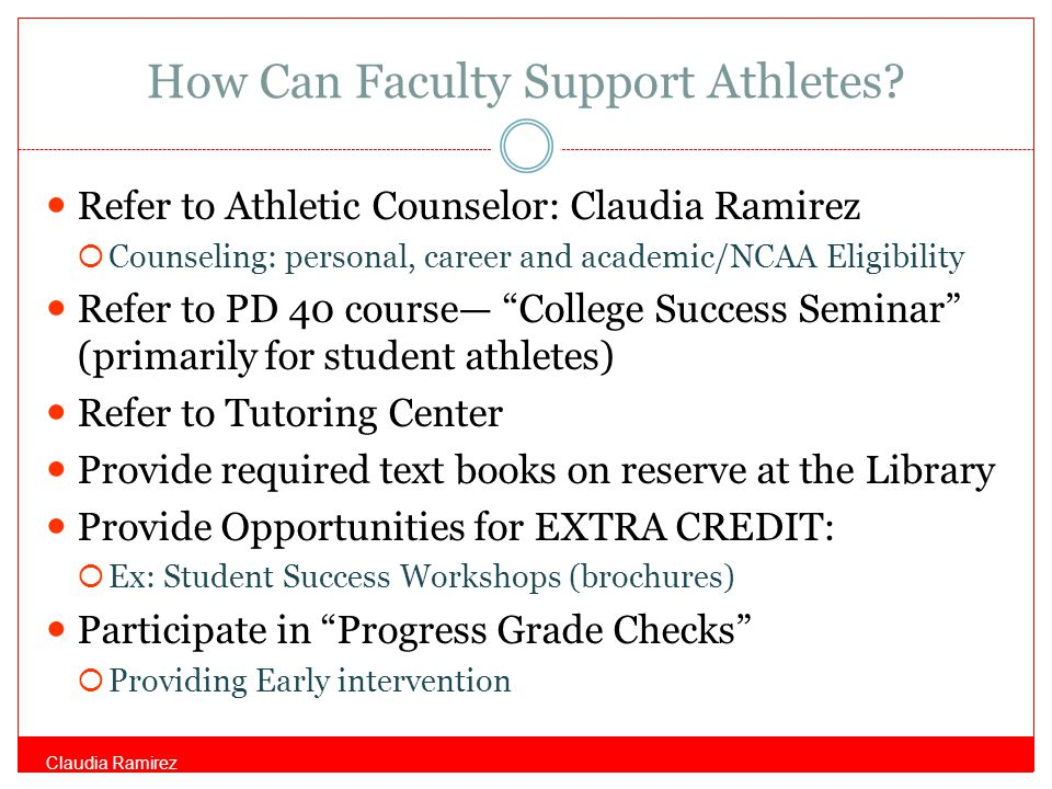 How Can Faculty Support Athletes.