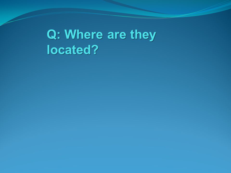 Q: Where are they located?