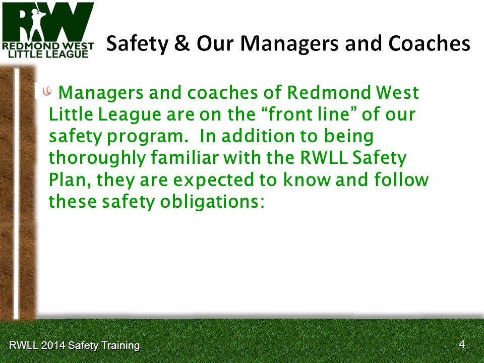 35 RWLL 2014 Safety Training