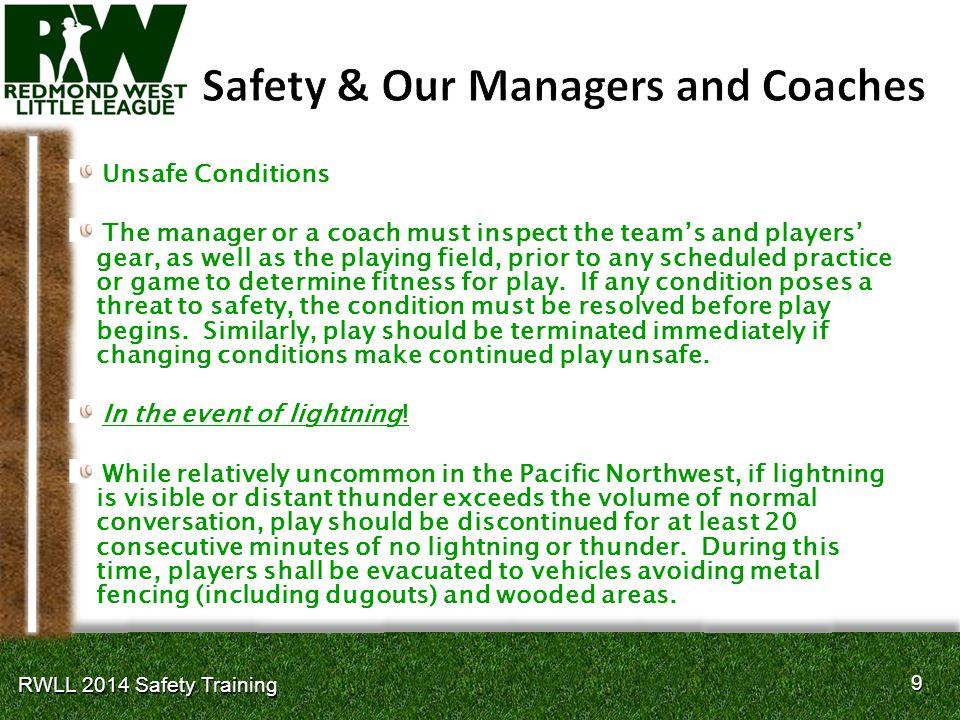 30 RWLL 2014 Safety Training
