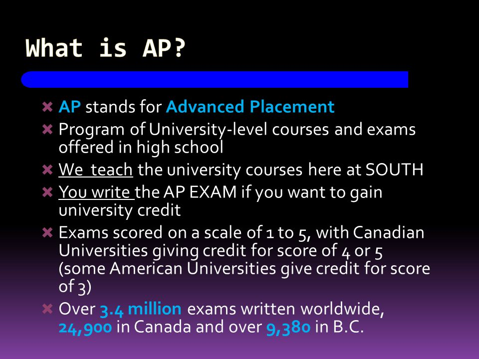 What is AP.