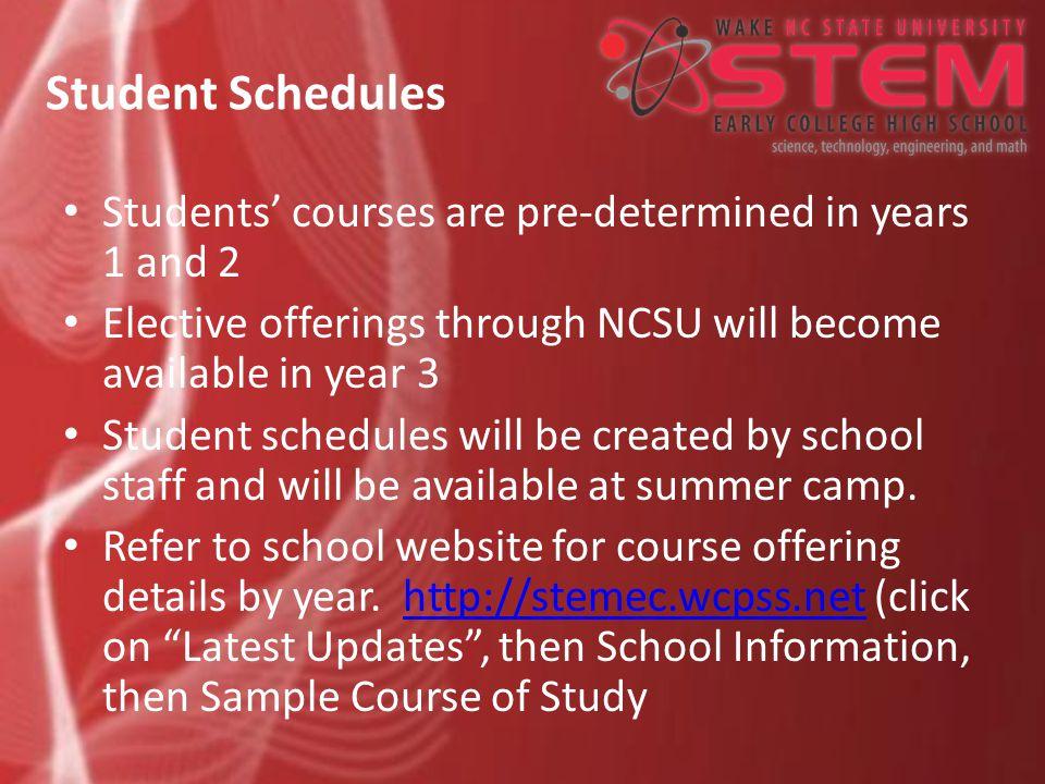 School Calendar and Daily Schedule Refer to school website for calendar http://stemec.wcpss.net (click on Latest Updates, then Calendar/Events) Refer to school website for calendar http://stemec.wcpss.net (click on Latest Updates, then Calendar/Events) http://stemec.wcpss.net
