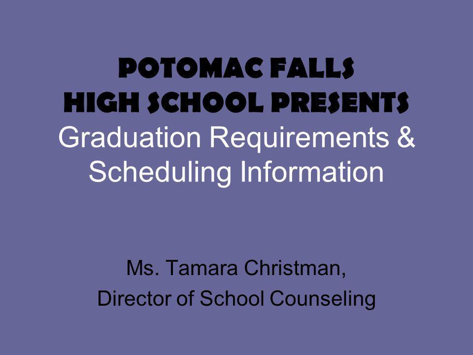 POTOMAC FALLS HIGH SCHOOL PRESENTS Graduation Requirements & Scheduling Information Ms.