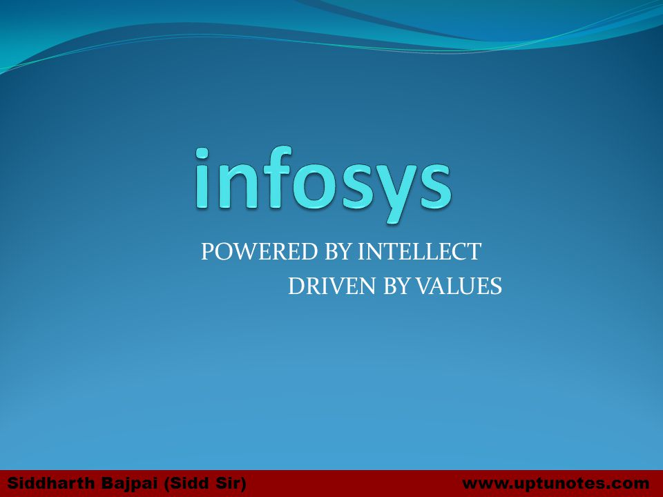 POWERED BY INTELLECT DRIVEN BY VALUES Siddharth Bajpai (Sidd Sir) www.uptunotes.com
