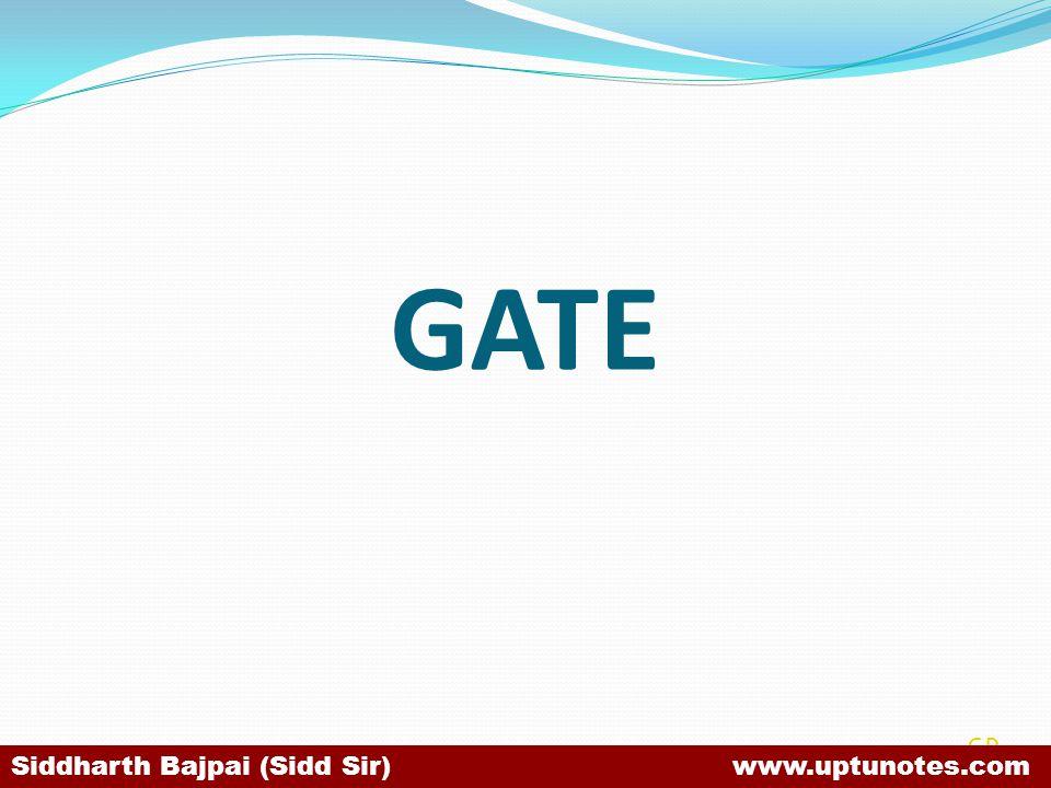 GATE SB Siddharth Bajpai (Sidd Sir) www.uptunotes.com