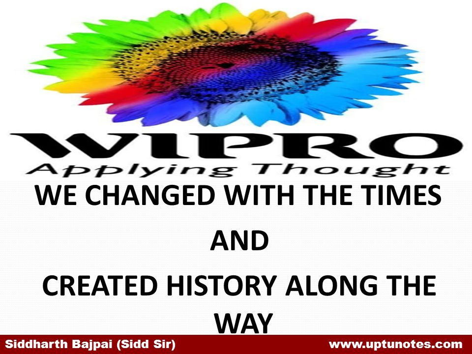 WE CHANGED WITH THE TIMES AND CREATED HISTORY ALONG THE WAY