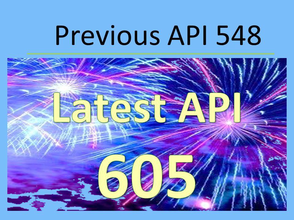 Previous API 548