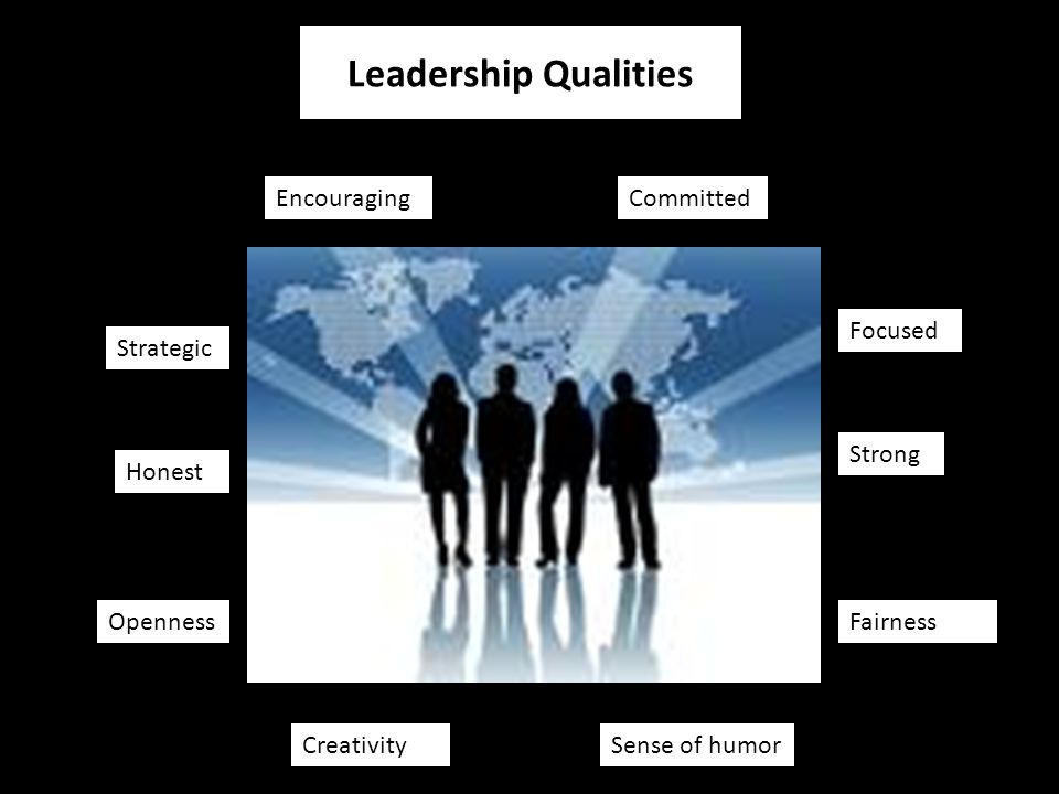 Honest Strong Committed Strategic Focused Encouraging Leadership Qualities Fairness Sense of humorCreativity Openness