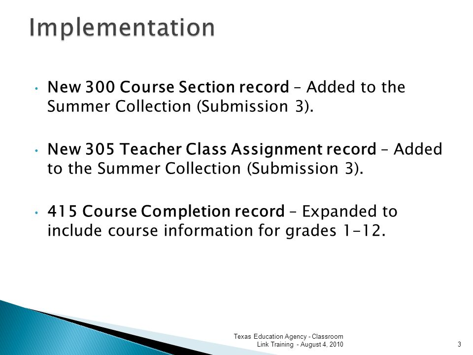 New 300 Course Section record – Added to the Summer Collection (Submission 3).