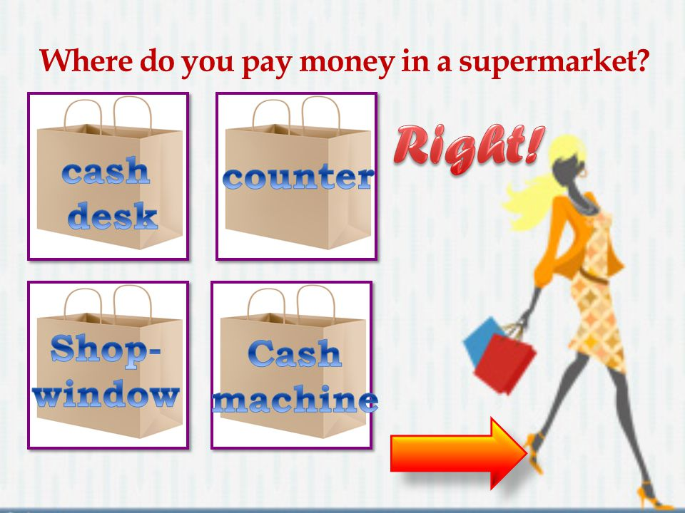 Where do you pay money in a supermarket
