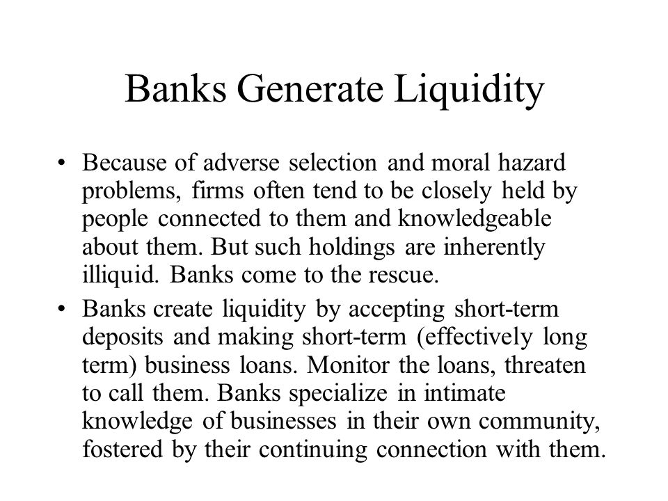 Fractional Reserves Banks keep only a fraction of deposits on reserve Invest long-term Unstable situation