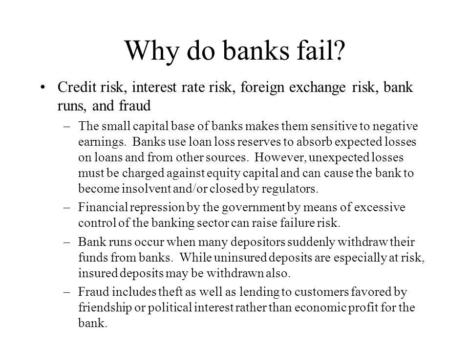 Why do banks fail.