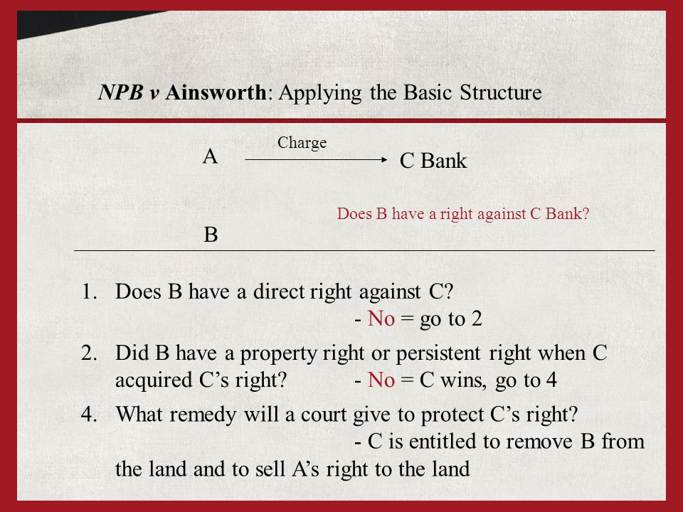 1.Does B have a direct right against C.