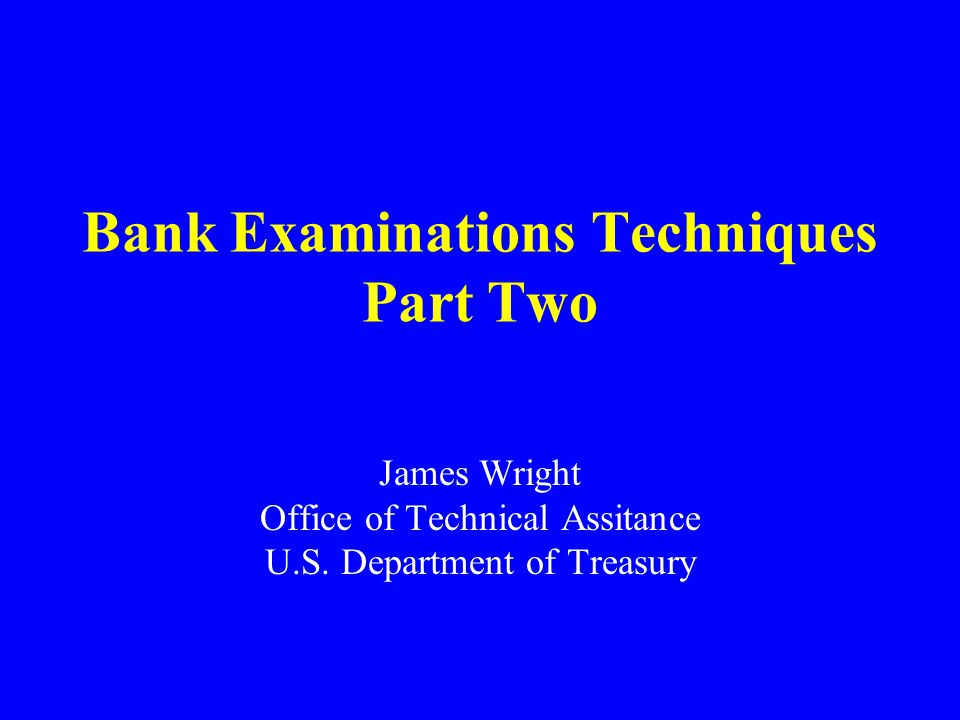 Examiners Role Prevents banking system use by money launders Assists law enforcement in building a strong case Not a law enforcement professional