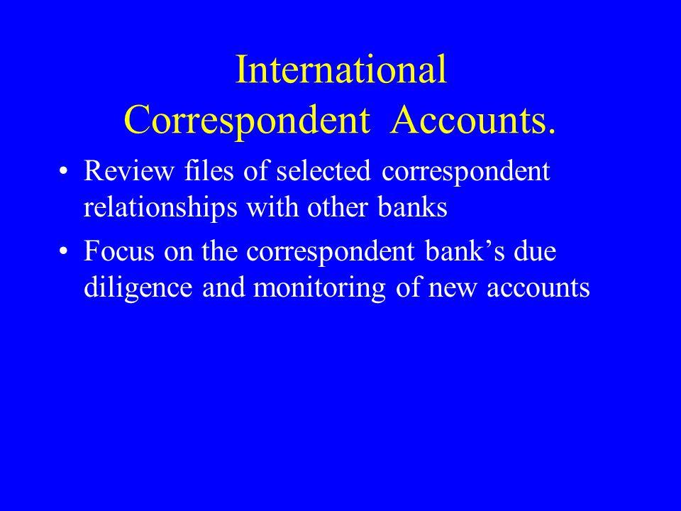 International Correspondent Accounts.