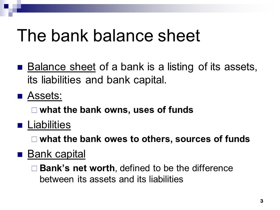 4 Assets = Liabilities + Bank Capital