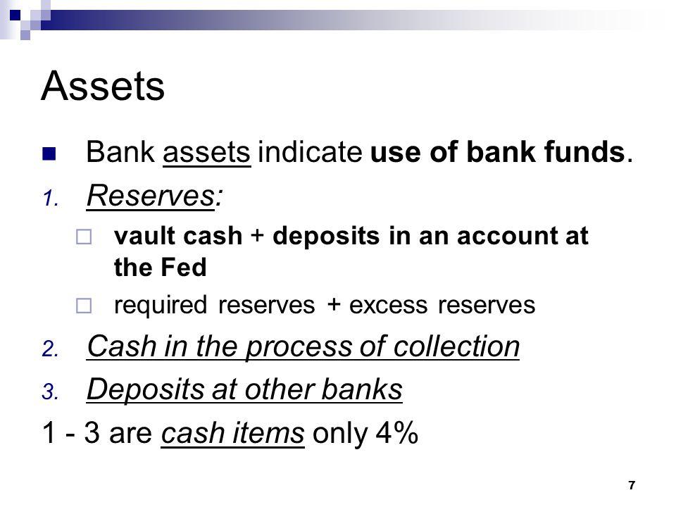 8 Assets – contd 4.