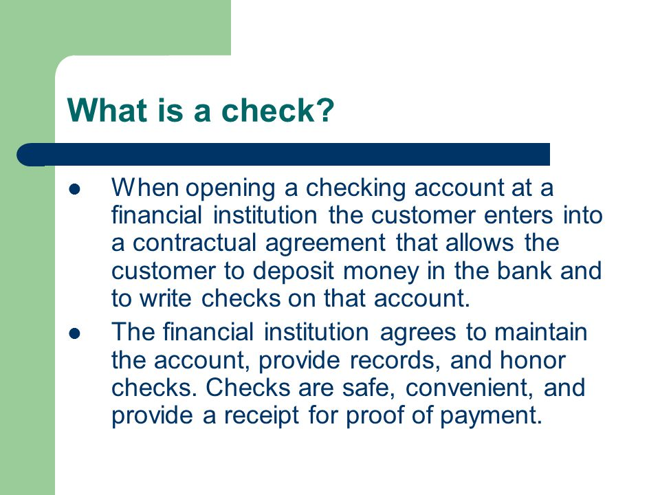 Why is writing checks important.Why is writing checks important.