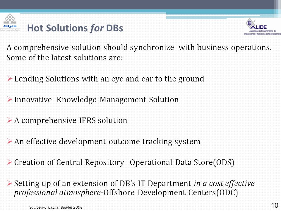 Hot Solutions for DBs A comprehensive solution should synchronize with business operations.