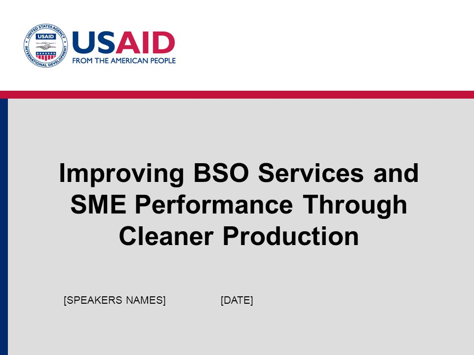8.3: SME Financing in XXX. Module 8: Financing Cleaner Production