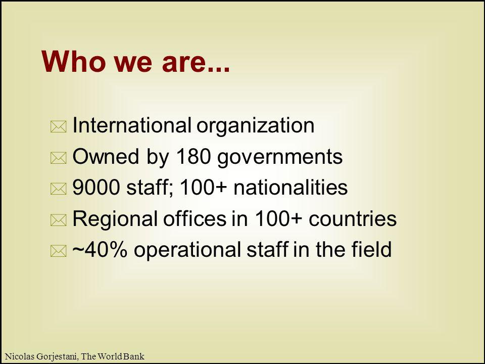 4 Nicolas Gorjestani, The World Bank What we do...