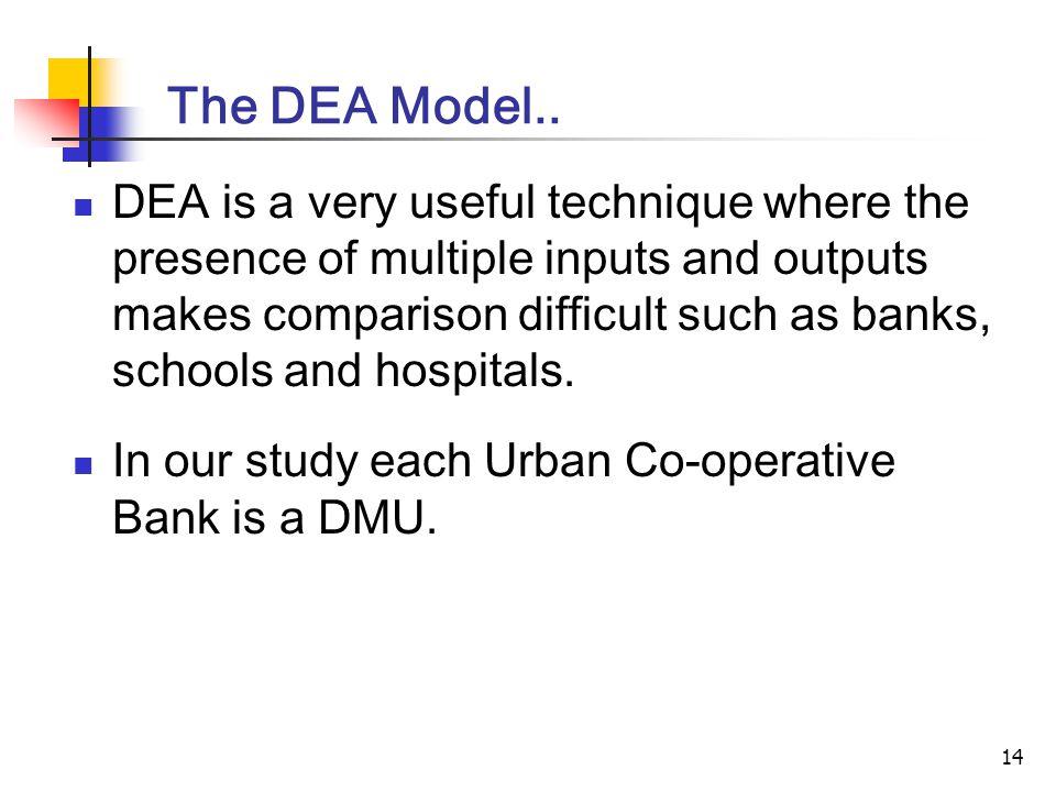 14 The DEA Model..