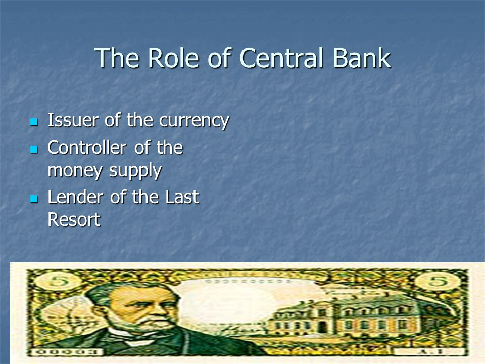 15 Basic Tasks of Federal Reserve and European Central Bank Federal Reserve manages supply of money and credit manages supply of money and credit keeps the wheels of business rolling keeps the wheels of business rolling serves as the banker for the federal government by providing financial services for the U.S.