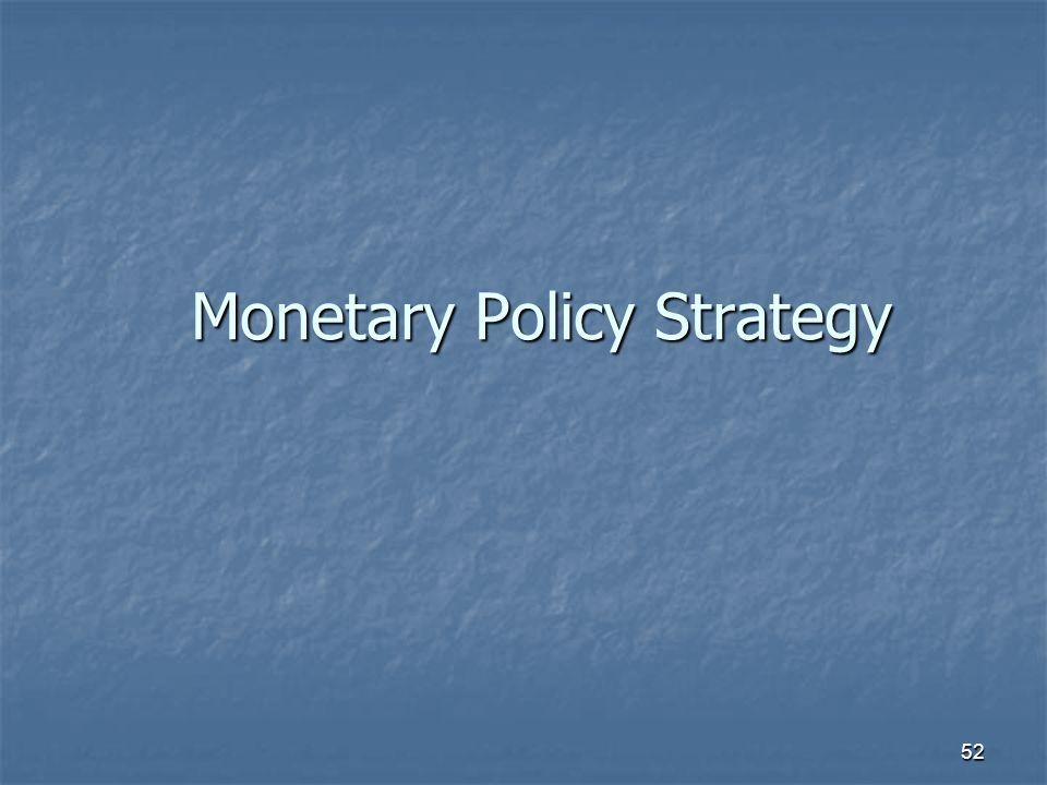 52 Monetary Policy Strategy
