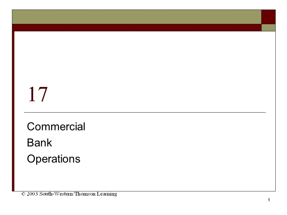 1 17 Commercial Bank Operations