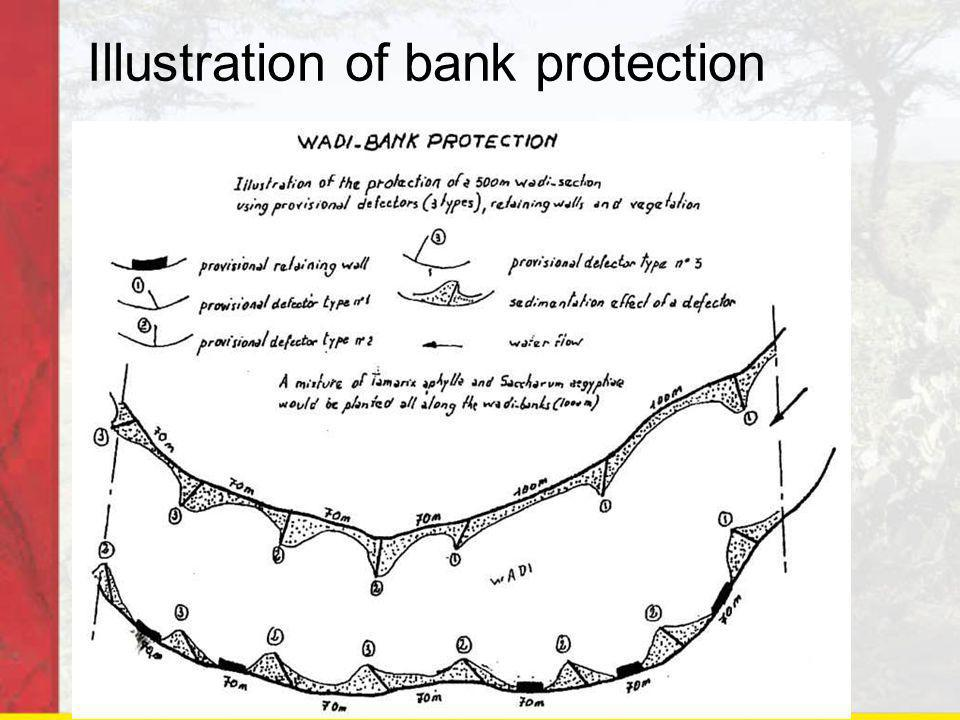 Illustration of bank protection