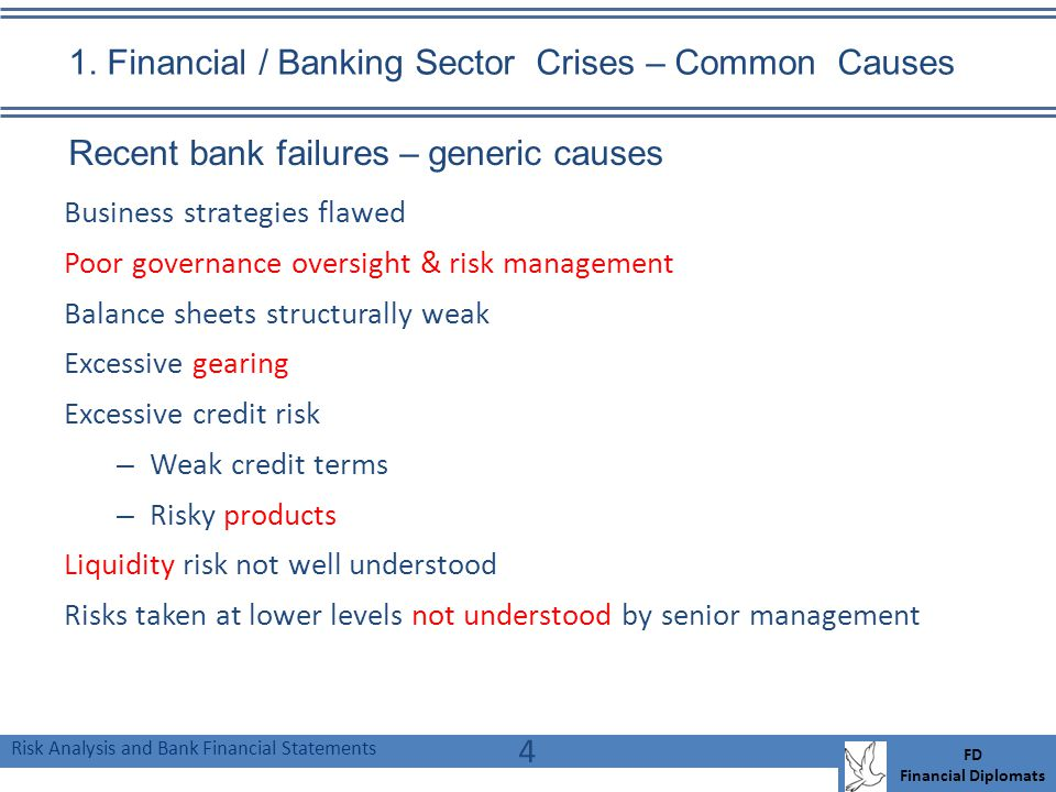 Risk Analysis and Bank Financial Statements FD Financial Diplomats 1.