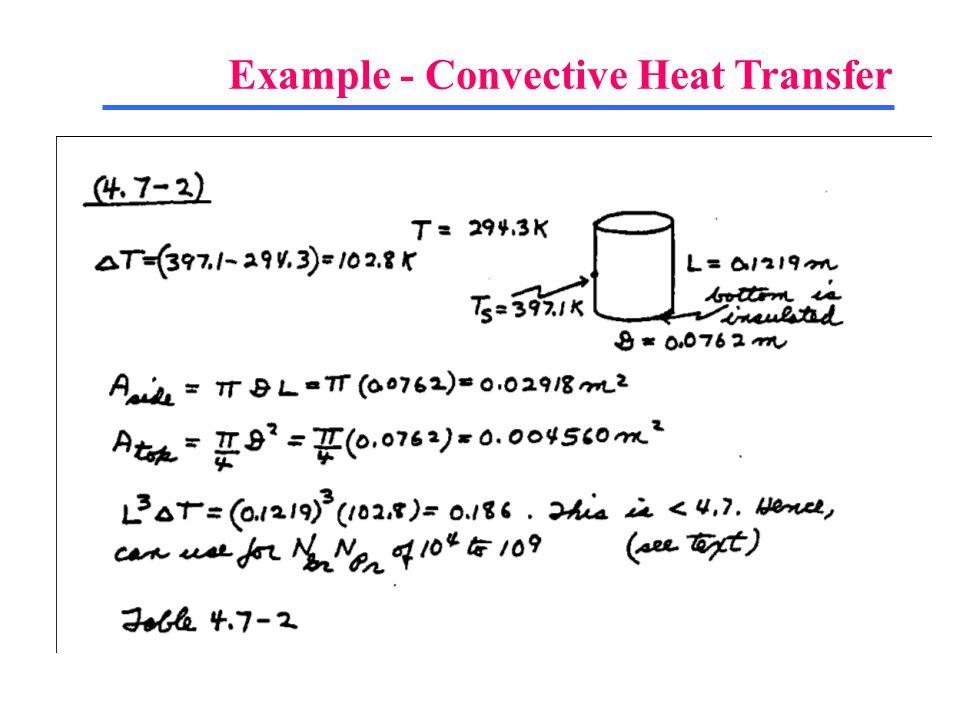 Example - Convective Heat Transfer