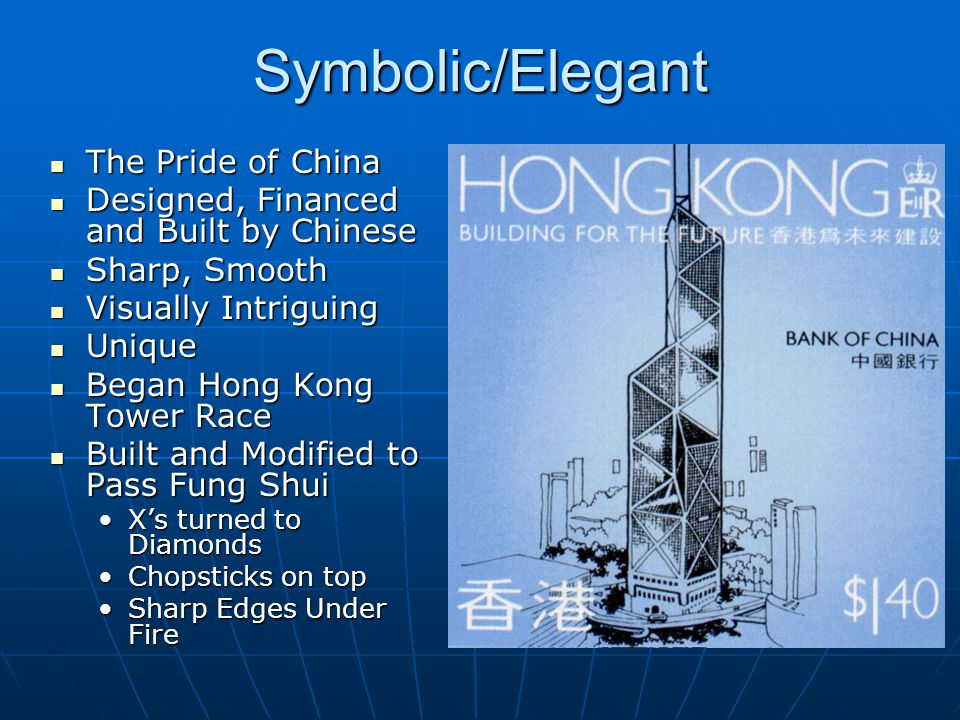 Symbolic/Elegant The Pride of China The Pride of China Designed, Financed and Built by Chinese Designed, Financed and Built by Chinese Sharp, Smooth S