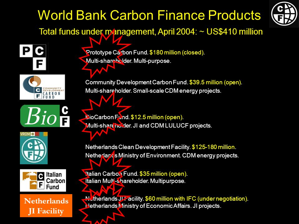 World Bank Carbon Finance Products Italian Carbon Fund.