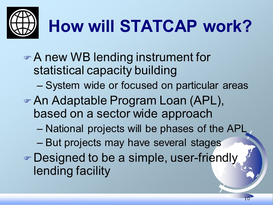 10 How will STATCAP work.