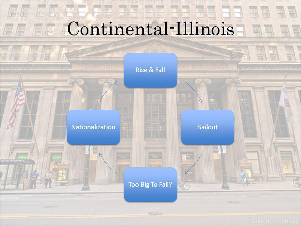 Continental-Illinois Rise & FallBailoutToo Big To Fail?Nationalization