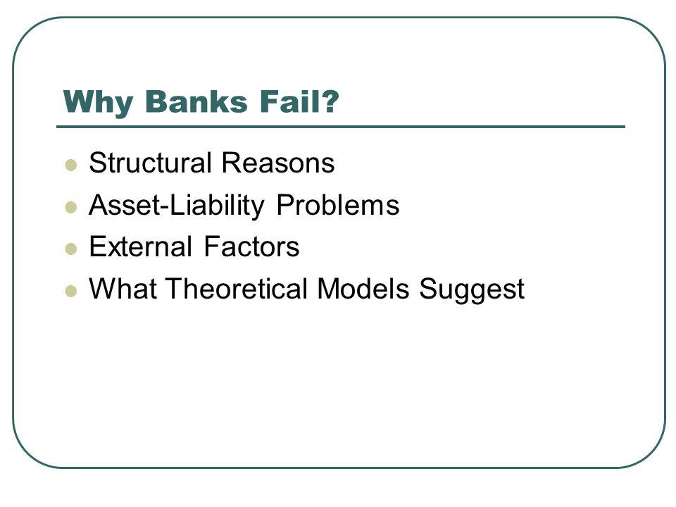Why Banks Fail.