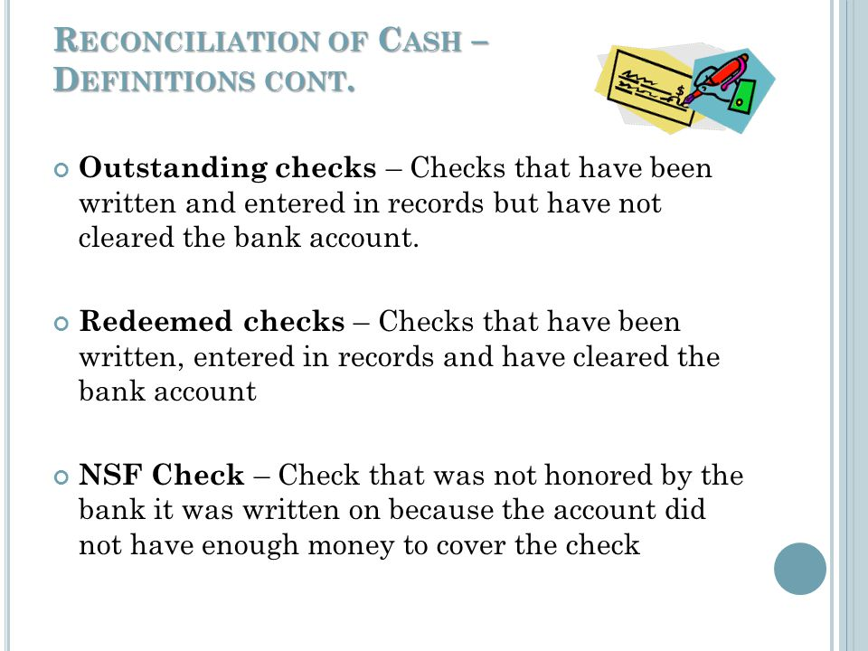 R ECONCILIATION OF C ASH When accepting cash: Always keep the cash in view of the customer until you have completed the transaction Always count the cash in the presence of the customer Separate the bills by denomination all facing one direction – largest denomination on top – stack coins by denomination Check each bill to ensure the denomination Add up the bills - If your total doesnt agree – repeat the count until it agrees – reverse the order of the denomination – (largest on bottom – face up) If a discrepancy still exists – ask a co-worker (if available) to count Dont put the cash away until you verify it is correct and the transaction is complete.