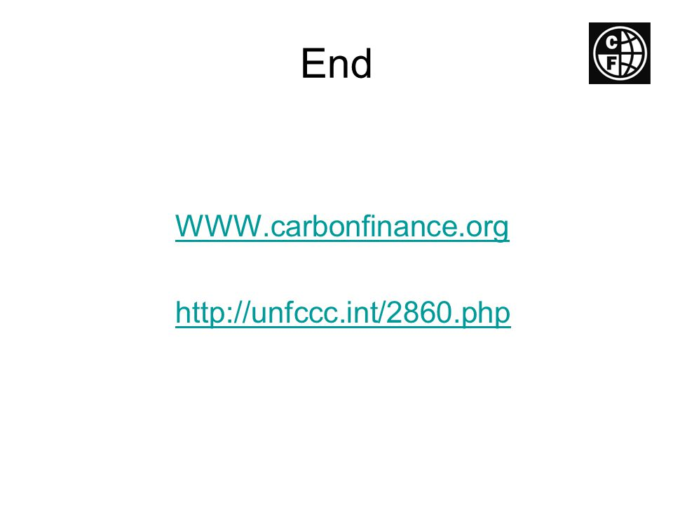 End WWW.carbonfinance.org http://unfccc.int/2860.php