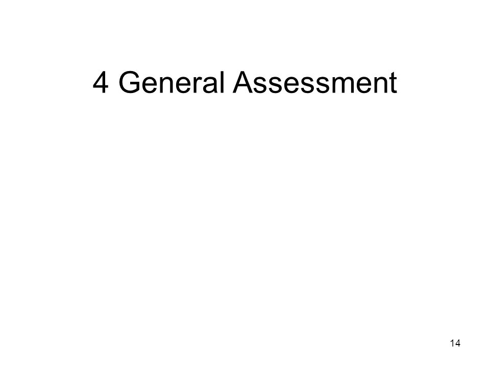 14 4 General Assessment