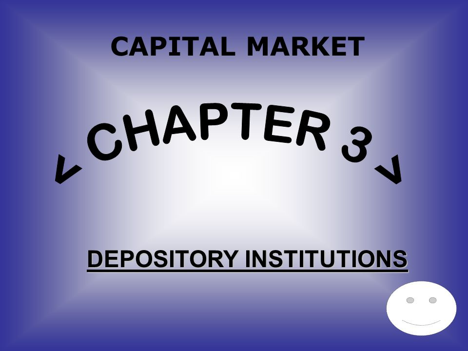 CAPITAL MARKET DEPOSITORY INSTITUTIONS
