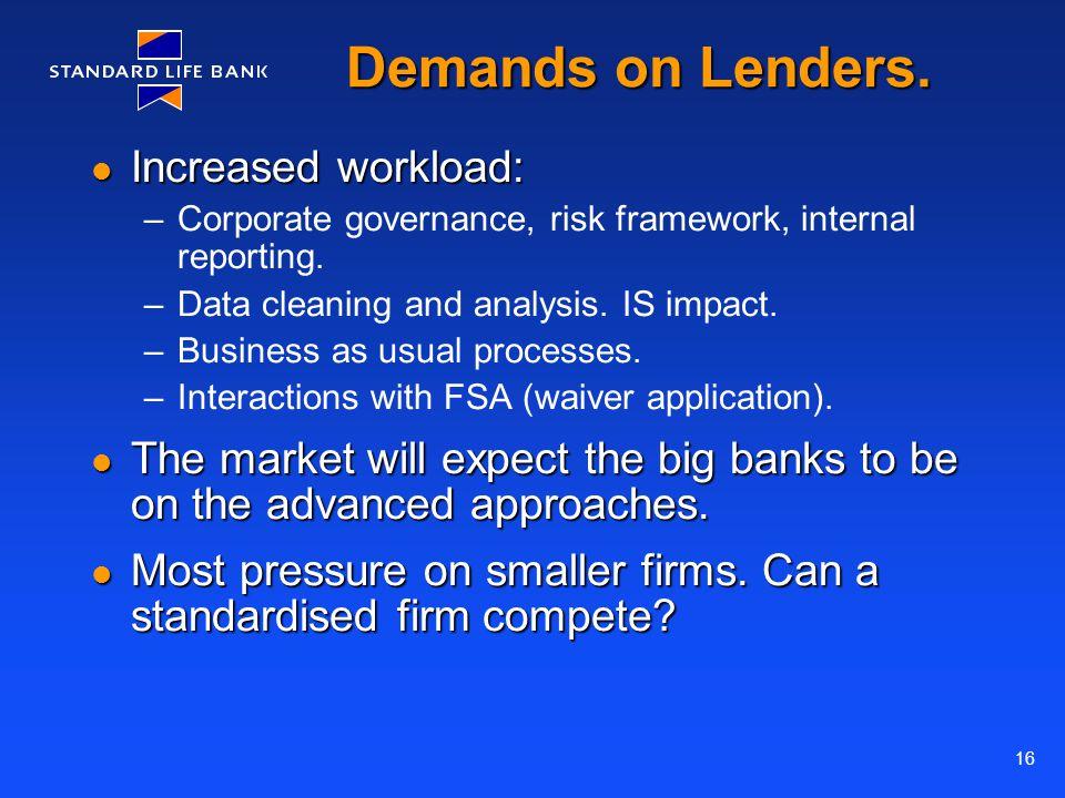 16 Demands on Lenders.