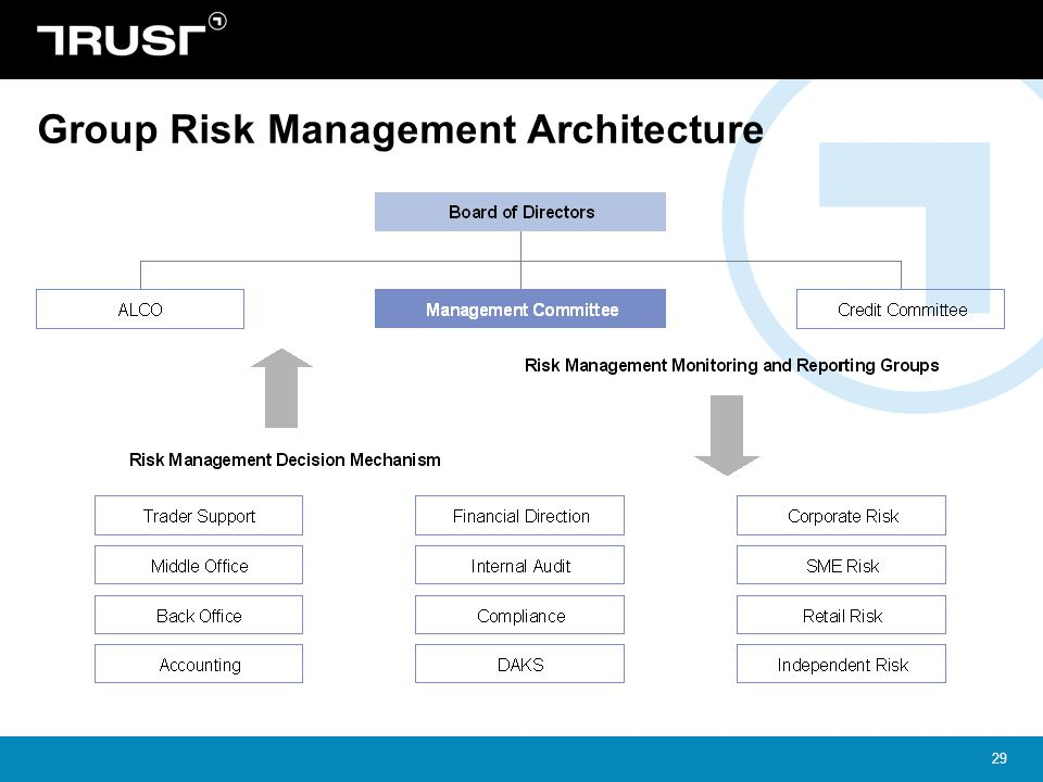 29 Group Risk Management Architecture