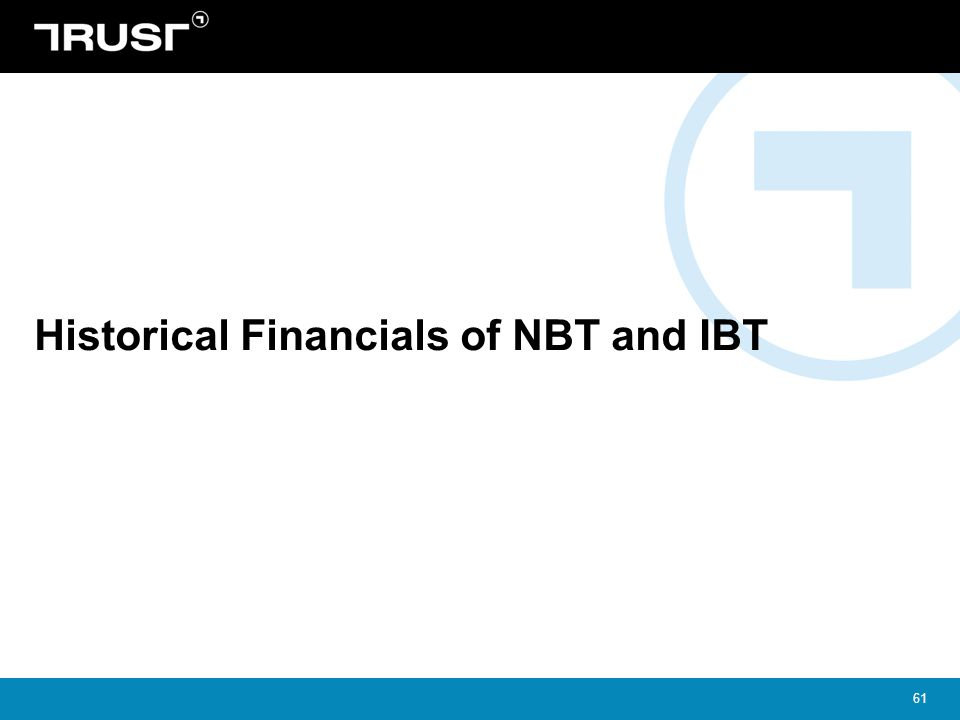 61 Historical Financials of NBT and IBT