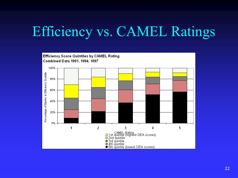 22 Efficiency vs. CAMEL Ratings