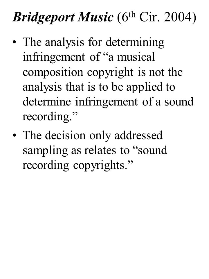 Bridgeport Music (6 th Cir.